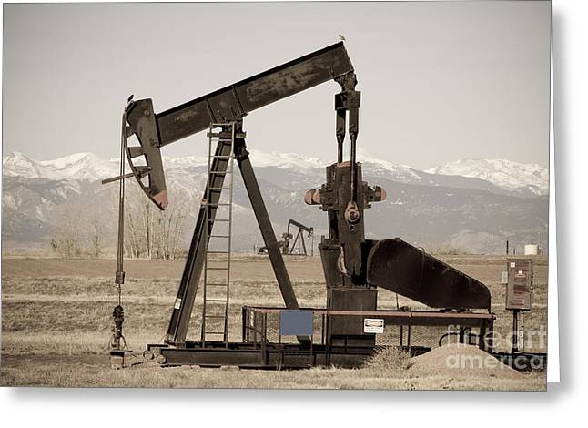 Colorado Greeting Cards - Oil Well Seesaw for the Birds Greeting Card by James BO  Insogna