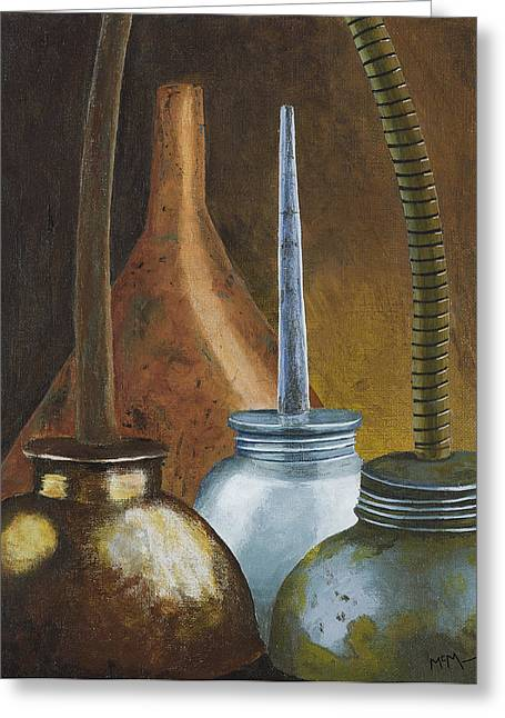 Old Relics Paintings Greeting Cards - Oilers II Greeting Card by Garry McMichael