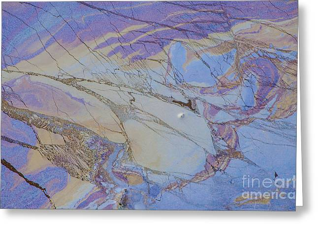Oil Slick Greeting Cards - Oily Abstract II Greeting Card by Bob Mead