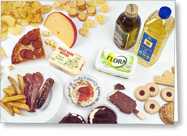 Food Collection Greeting Cards - Oily And Fattening Food Greeting Card by Martyn F. Chillmaid