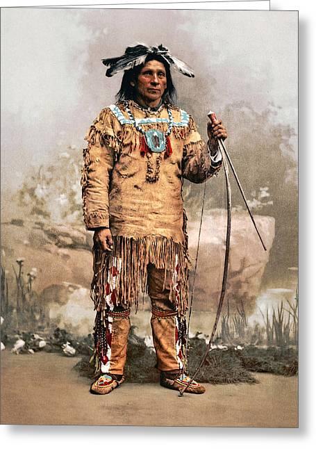 Western Western Art Greeting Cards - Ojibwas Aleck Waunosa 1903 Greeting Card by Unknown
