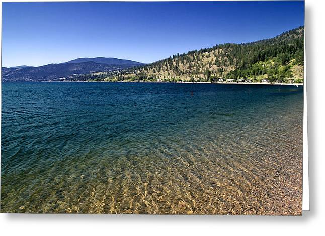Gradations Digital Art Greeting Cards - Okanagan Lake Greeting Card by Nth Alien