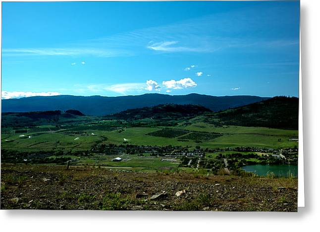 Okanagan Valley Greeting Cards - Okanagan Valley View Greeting Card by Monte Arnold
