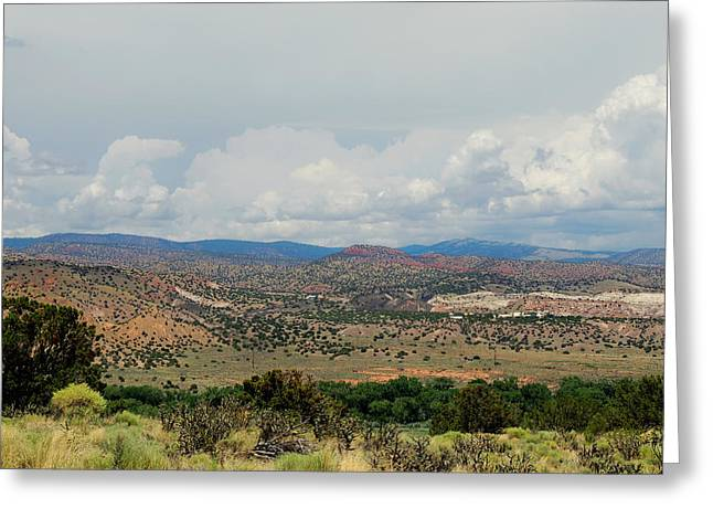Ranch Home Greeting Cards - OKeefe Country 2 Greeting Card by Gordon Beck