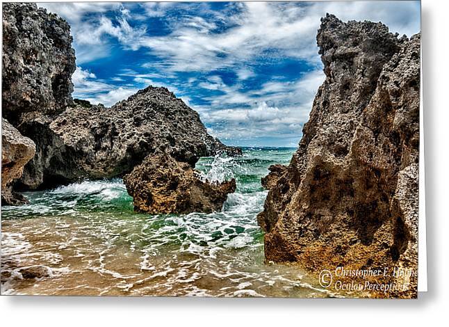 Ocular Perceptions Greeting Cards - Okinawa Coast Greeting Card by Christopher Holmes