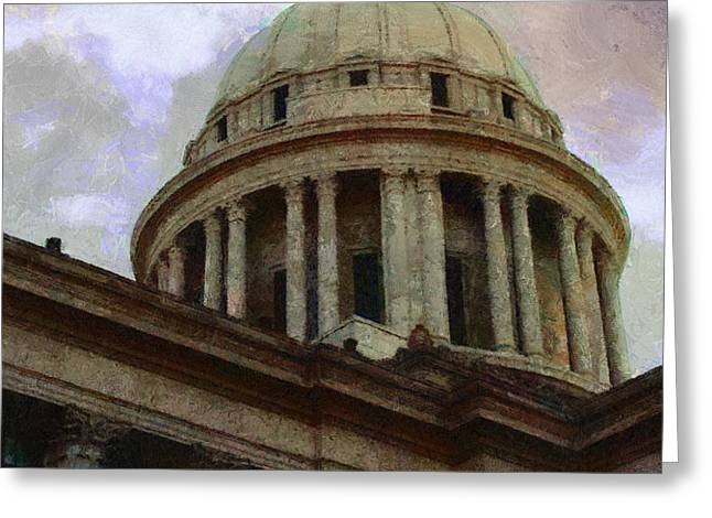 Oklahoma Capital Greeting Card by Jeff Kolker
