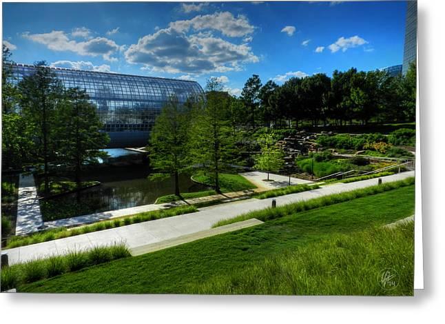 Okc Greeting Cards - Oklahoma City - Myriad Botanical Gardens 001 Greeting Card by Lance Vaughn