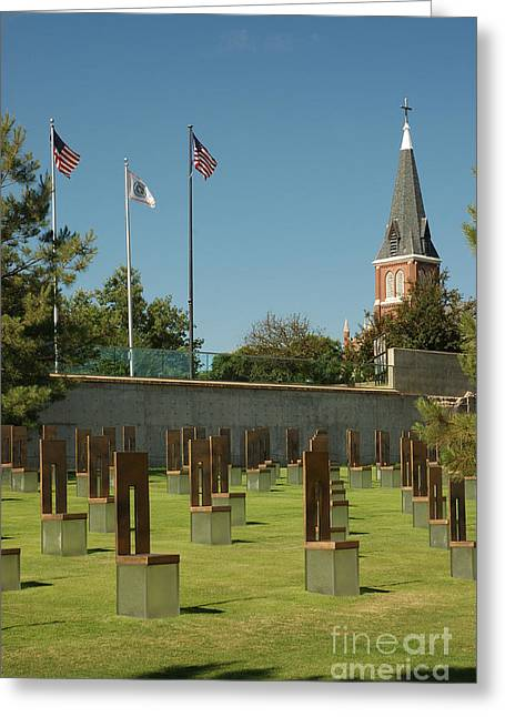 Empty Chairs Greeting Cards - Oklahoma City National Memorial Greeting Card by Richard and Ellen Thane