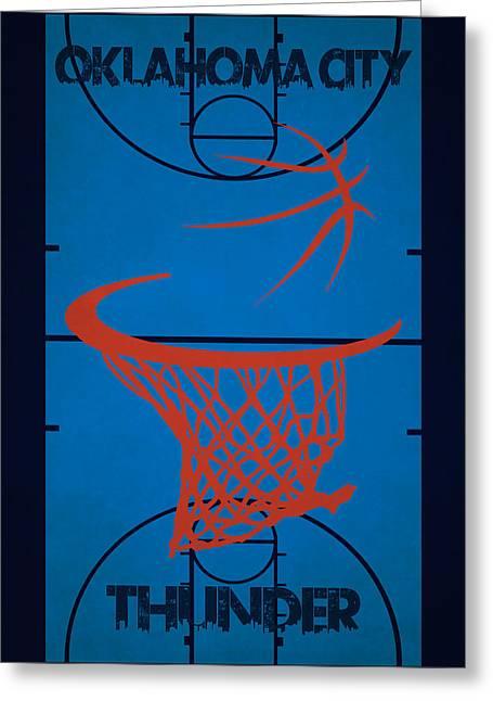 Oklahoma City Thunder Greeting Cards - Oklahoma City Thunder Court Greeting Card by Joe Hamilton