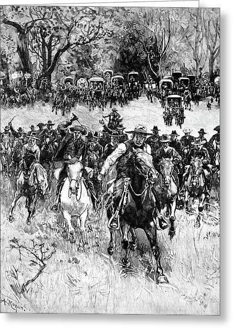 Oklahoma Land Rush, 1891 Greeting Card by Granger