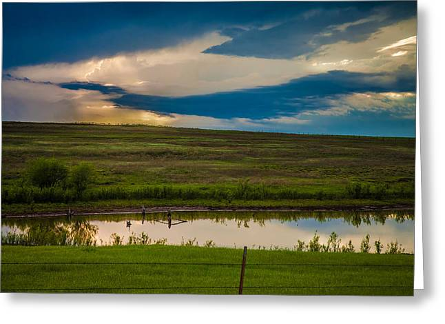 Rural Southern Oklahoma Greeting Cards - Oklahoma Landscape Greeting Card by Toni Hopper