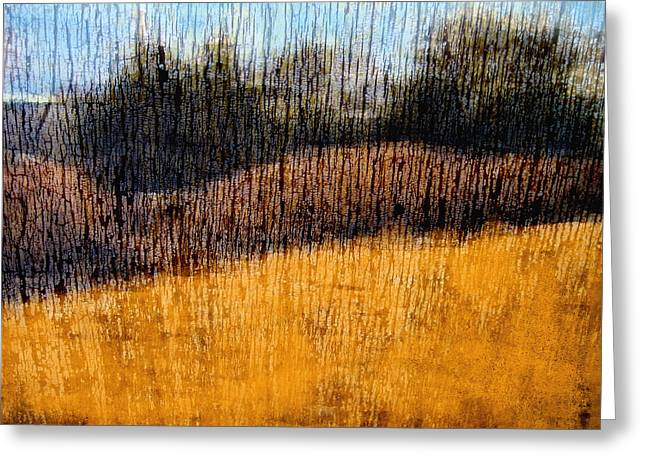 Fine Mixed Media Greeting Cards - Oklahoma Prairie Landscape Greeting Card by Ann Powell