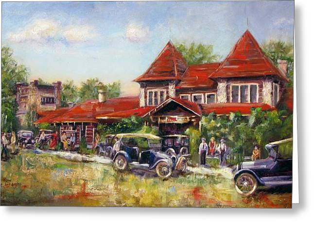 Arkansas Paintings Greeting Cards - Oklahoma Row Greeting Card by Vicki Ross