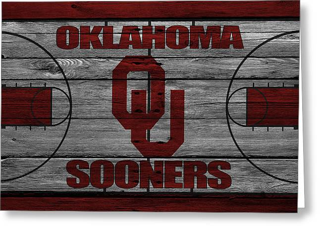 Recently Sold -  - Dunk Greeting Cards - Oklahoma Sooners Greeting Card by Joe Hamilton