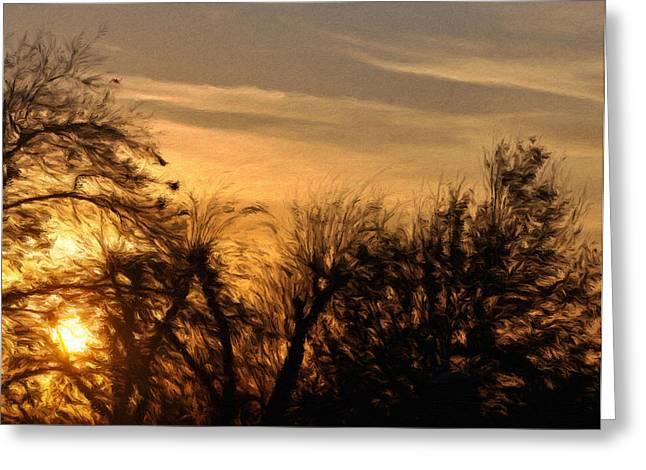 Oklahoma Sunset Greeting Card by Jeff Kolker
