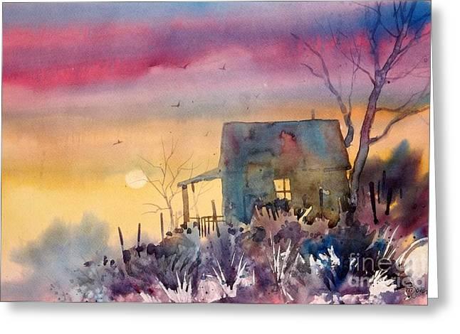 Oklahoma Sunset Greeting Card by Micheal Jones