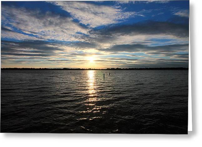 Okoboji Greeting Cards - Okoboji Sunset Greeting Card by Steve ODonnell