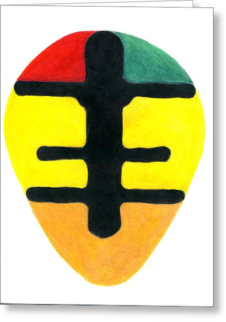 Bravery Greeting Cards - Okodee Mmowere Sheild Greeting Card by Greg Roberson