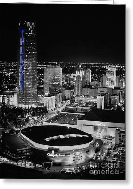 Oklahoma City Thunder Greeting Cards - Oks0055 Greeting Card by Cooper Ross