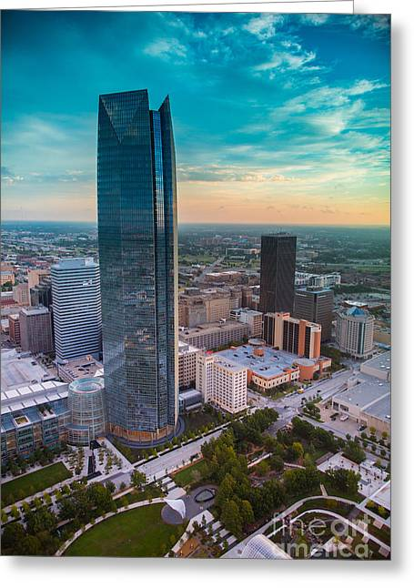 Okc Greeting Cards - Oks007-47 Greeting Card by Cooper Ross