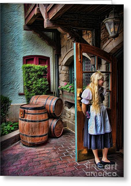 Deutschland Greeting Cards - Oktoberfest Fraulein Greeting Card by Lee Dos Santos