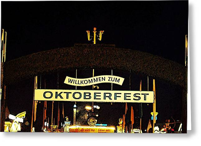 Deutschland Greeting Cards - Oktoberfest Greeting Card by Zinvolle Art