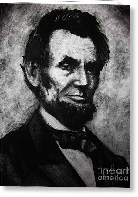 Abe Drawings Greeting Cards - Ol Abe Greeting Card by Justin Coffman