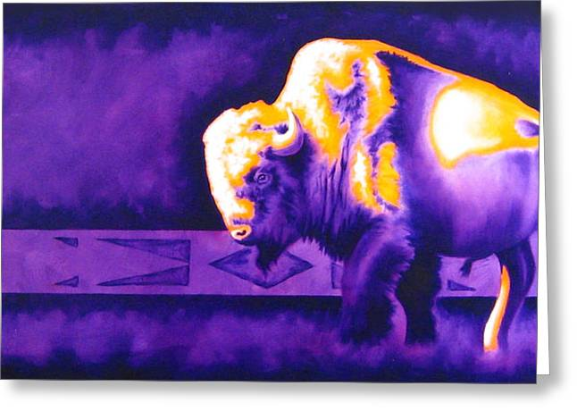 Purple Robe Greeting Cards - Ol Bull Greeting Card by Robert Martinez