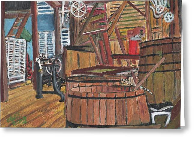 Manufacturing Paintings Greeting Cards - Ol Factory Greeting Card by Cliff Wilson