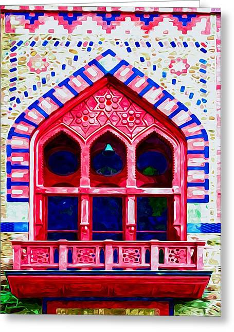 Church Pillars Paintings Greeting Cards - Olana 10 Greeting Card by Lanjee Chee