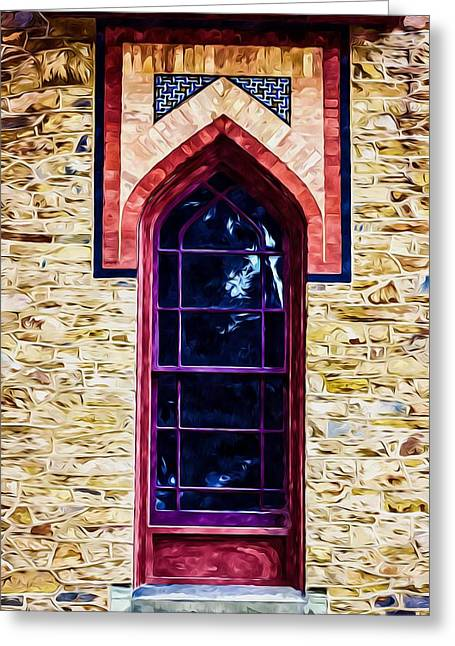 Church Pillars Paintings Greeting Cards - Olana 11 Greeting Card by Lanjee Chee