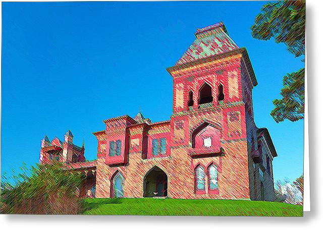 Church Pillars Paintings Greeting Cards - Olana 13 Greeting Card by Lanjee Chee