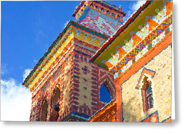 Church Pillars Paintings Greeting Cards - Olana 16 Greeting Card by Lanjee Chee