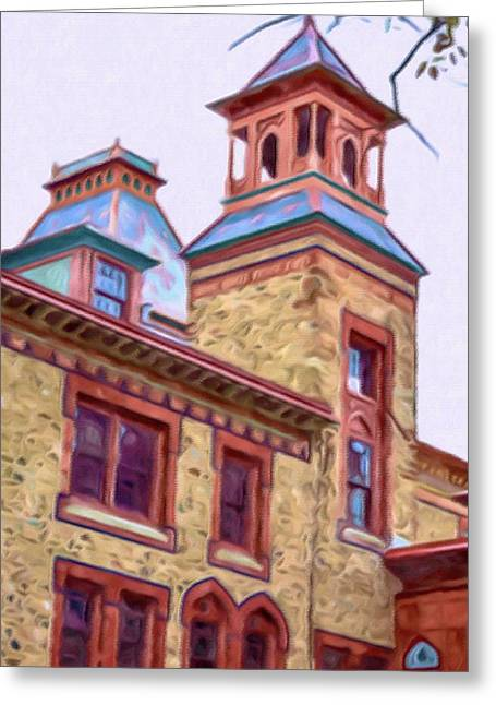 Church Pillars Paintings Greeting Cards - Olana 3 Greeting Card by Lanjee Chee