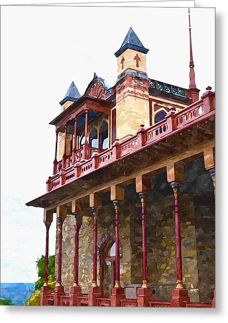 Church Pillars Paintings Greeting Cards - Olana 7 Greeting Card by Lanjee Chee