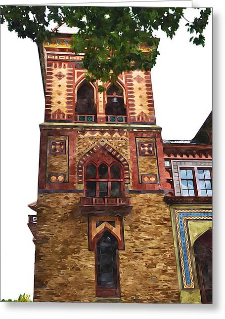 Church Pillars Paintings Greeting Cards - Olana 8 Greeting Card by Lanjee Chee