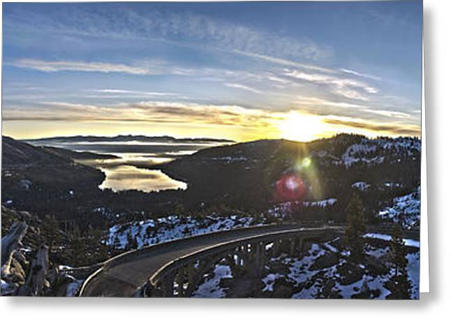 Summit Greeting Cards - Old 40 Sunrise Greeting Card by Jeremy Jensen