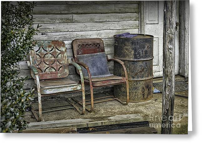 Old Abandoned House Greeting Cards - Back Porch 2 Greeting Card by Walt Foegelle