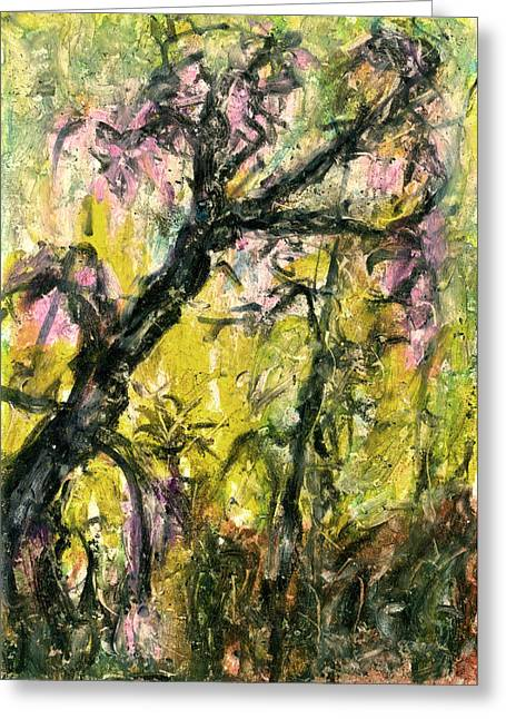 Abstract Nature Pastels Greeting Cards - Old Acacia Greeting Card by Yuri Lushnichenko