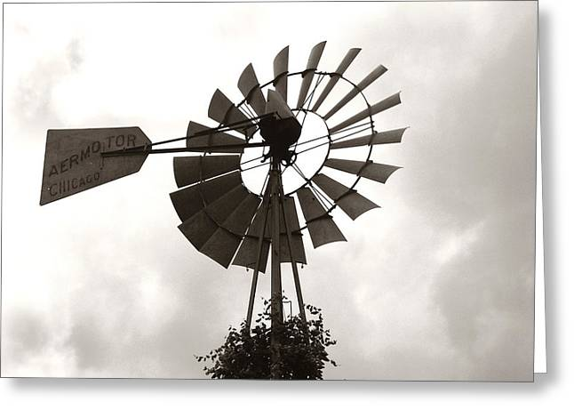 Aermotor Greeting Cards - Old Aermotor Chicago Windmill Greeting Card by Marilyn Hunt