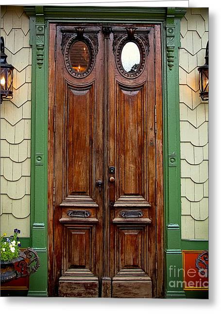 Original Photographs Greeting Cards - Old African Doors Greeting Card by Colleen Kammerer