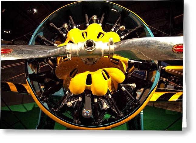 Plane Engine Greeting Cards - Old Airplane Propellers Greeting Card by Dan Sproul