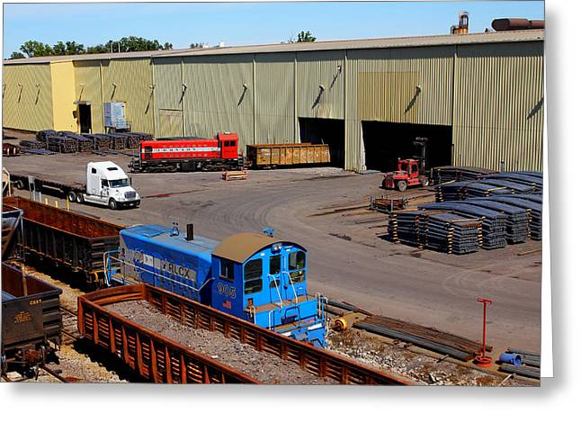 Leasing Greeting Cards - Old Alco At Work Greeting Card by Joseph C Hinson Photography