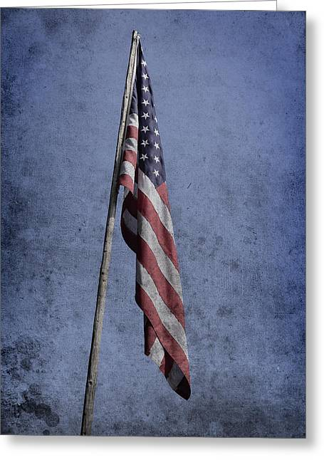 Glory Honor Greeting Cards - Old american flag  Greeting Card by Toppart Sweden