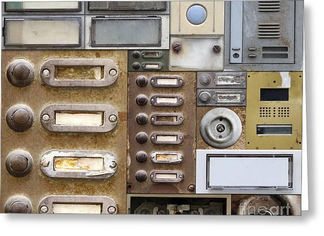 Doorbell Greeting Cards - Old And Broken Doorbells Greeting Card by Michal Boubin