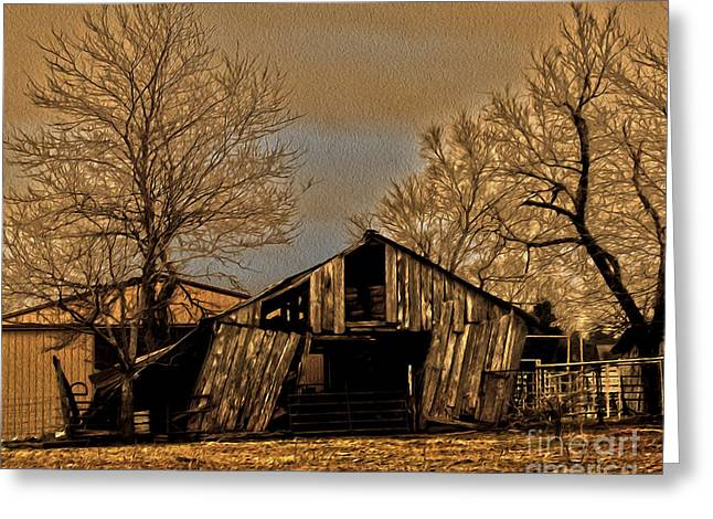 Shed Digital Art Greeting Cards - Old and New Greeting Card by R McLellan