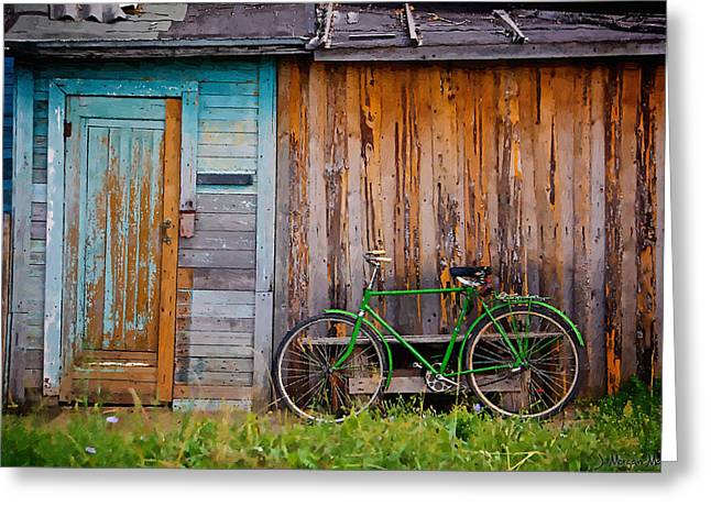 Shed Digital Art Greeting Cards - Old and Older Greeting Card by J Morgan Massey