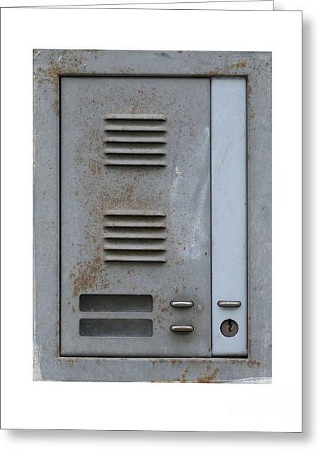 Doorbell Greeting Cards - Old And Rusty Door Buzzer Greeting Card by Michal Boubin