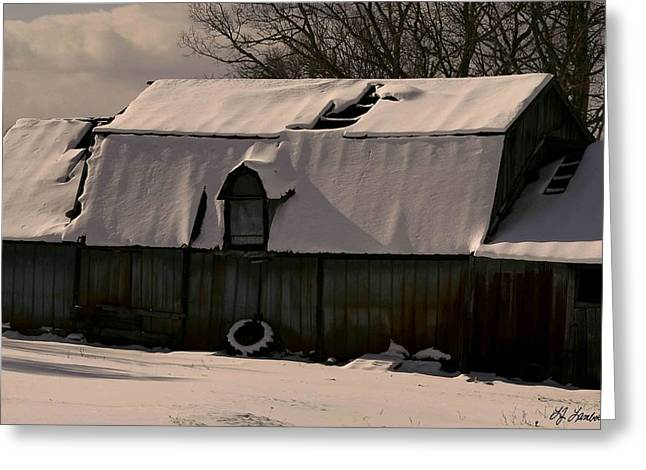 Vinter Greeting Cards - Old and Rusty Greeting Card by Lj Lambert