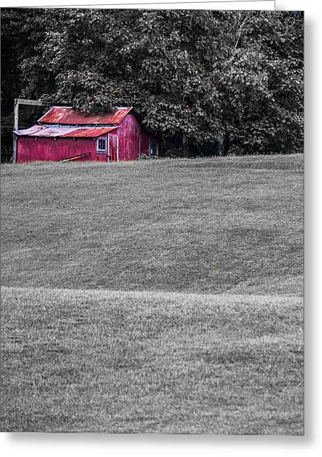 Barn Landscape Photographs Greeting Cards - Unstoppable Greeting Card by Shelby  Young